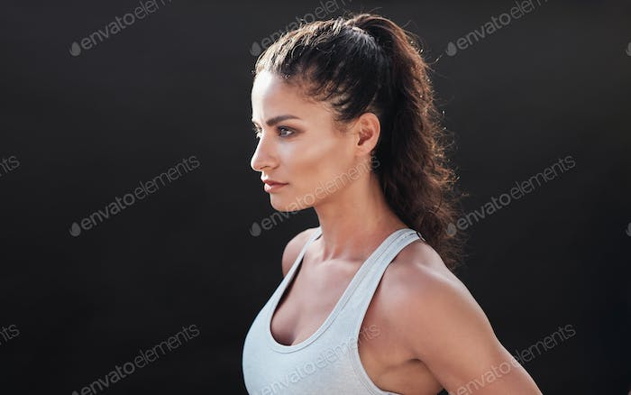 Attractive young woman in sportswear