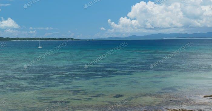 Beautiful seascape in ishigaki island