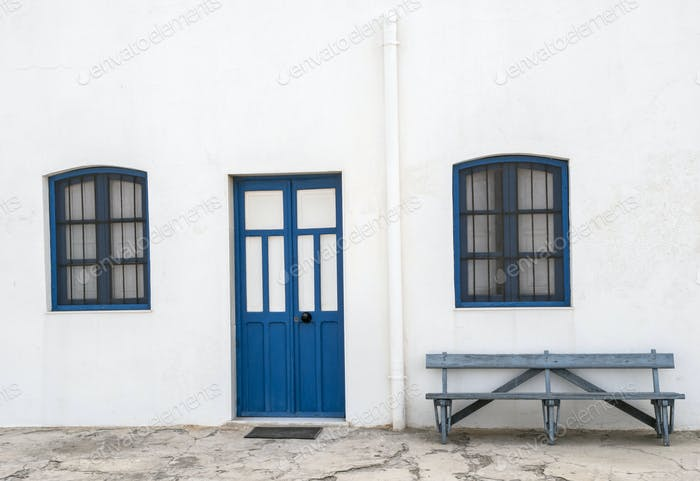 Houses in the village of Almadraba of Monteleva, Almeria, Andalusia, Spain