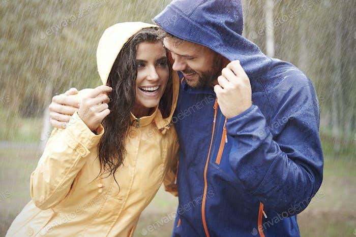The rain make us happy