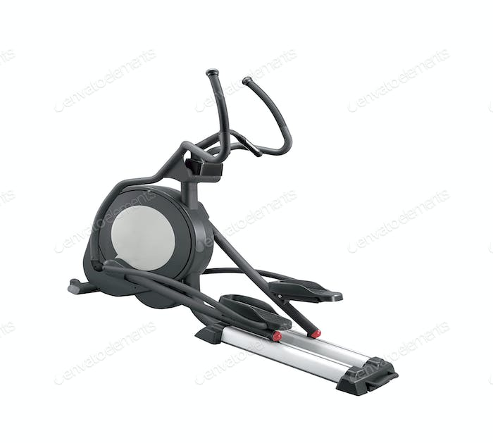 Elliptical gym machine isolated