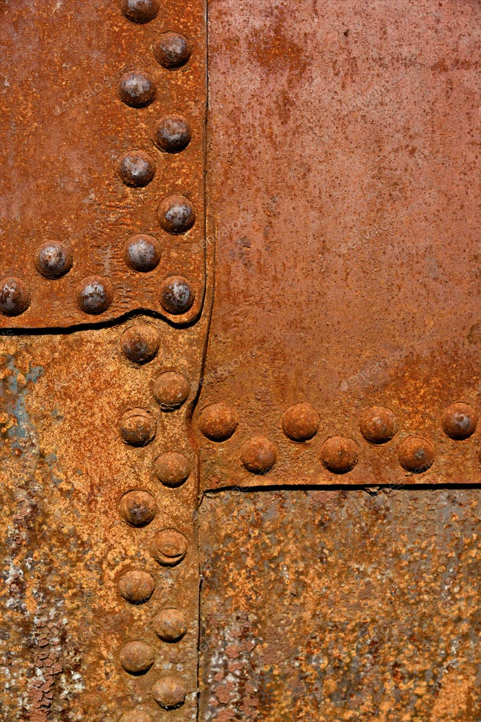 Rusty metal wall surface
