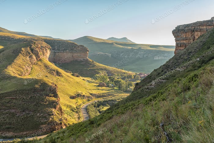 Aerial view of part of Golden Gate Highlands National Park