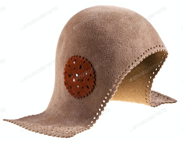 felt women helmet hat
