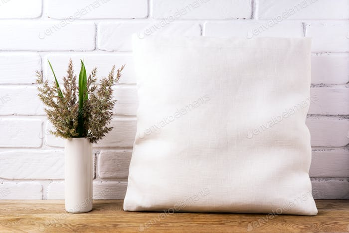 Placeit – Pillow mockup with cord wild grass
