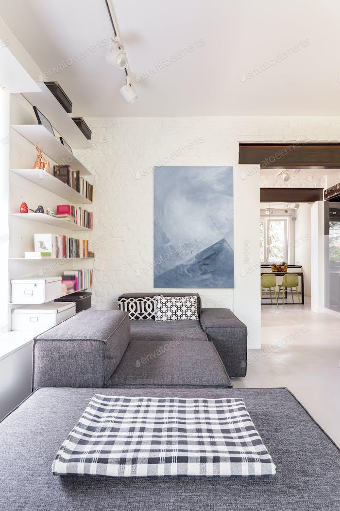 Modern grey living room