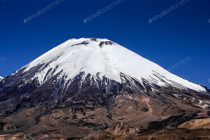 Snowcapped volcano Parinacota