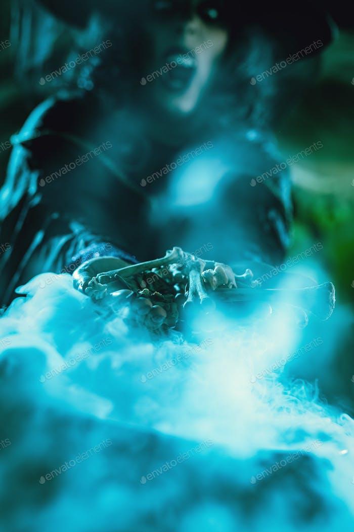 Bones In Witch's Hands