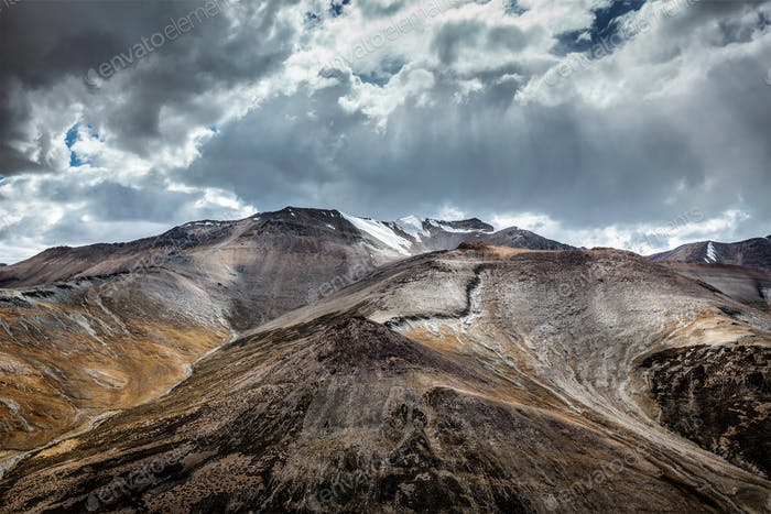 Blick auf Himalaya in der Nähe von Tanglang la Pass, Ladakh