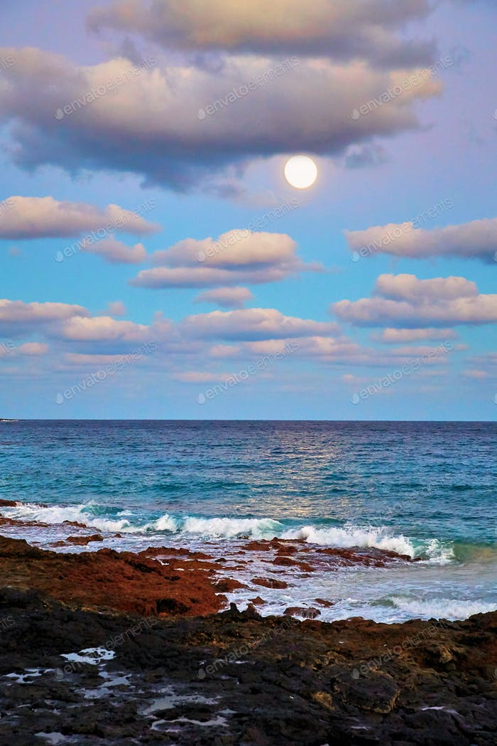 Sonnenuntergang auf der Insel Lanzarote