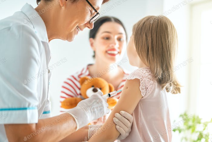 vaccination to a child