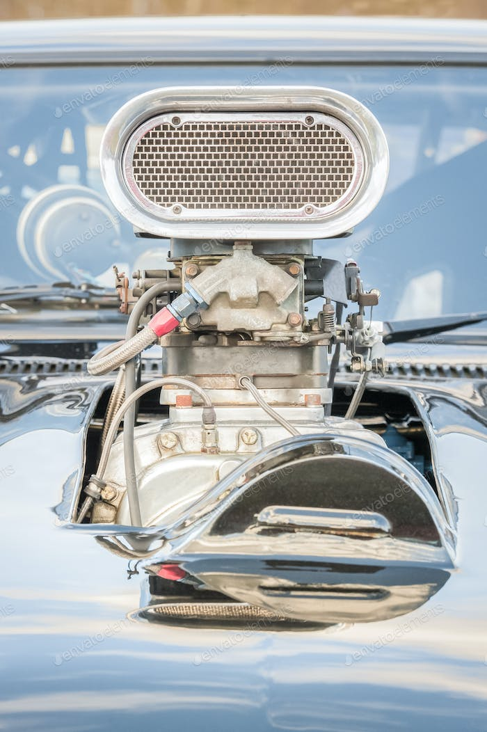 supercharged vehicle engine