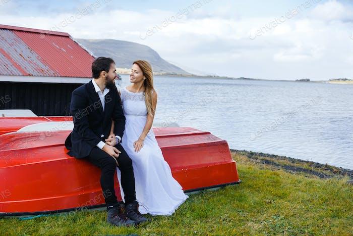 Newlyweds on journey