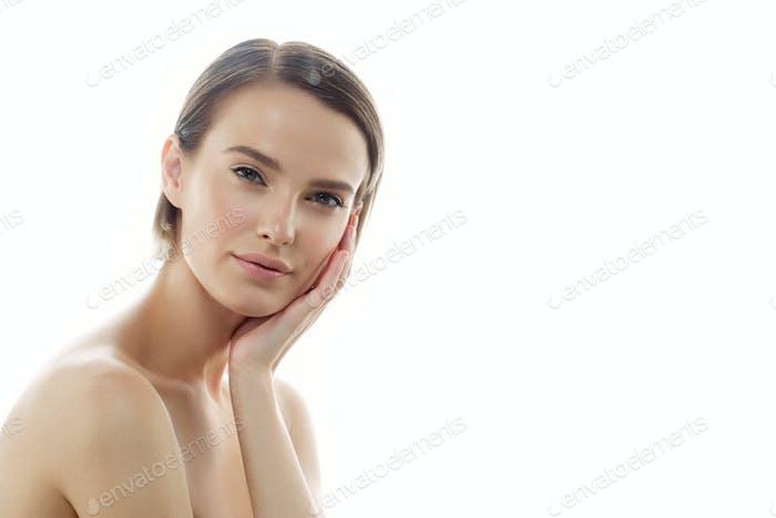 Clean fresh skin female beauty