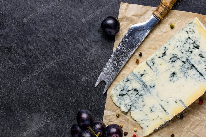 Gorgonzola Cheese with Copy Space