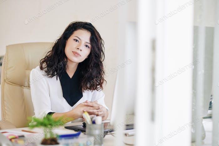 Pretty female entrepreneur