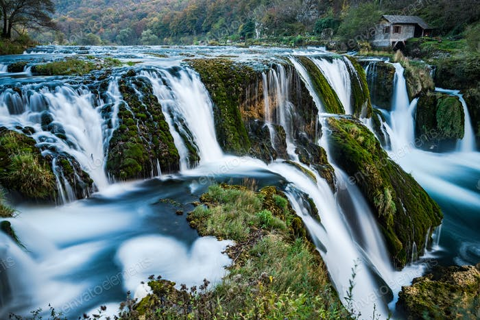 Strbacki buk waterfall on river Una in Bosnia and Herzegovina