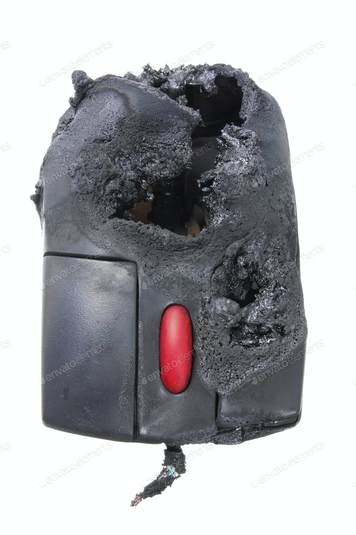 Burnt Computer Mouse