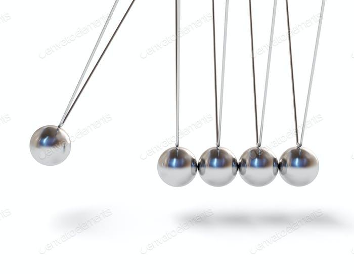 Action sequrence concept Newton's cradle executive