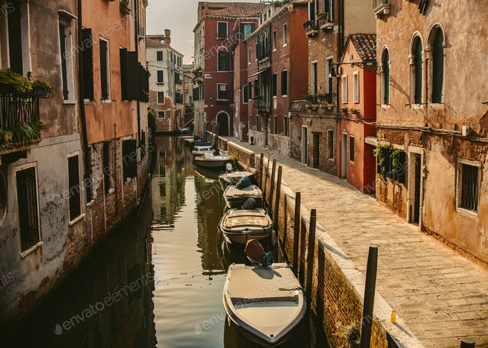 water channel in venice, italy
