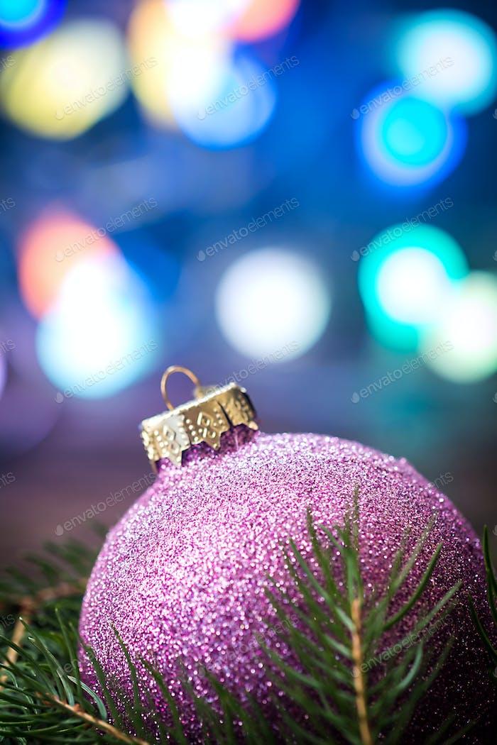 Purple Christmas ball