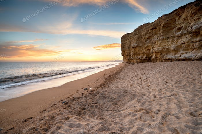 Cliffs at Burton Bradstock in Dorset
