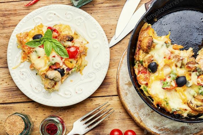 Appetitliche Pizza, Italienische Küche