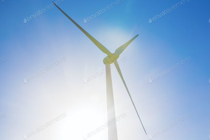 Powerful and ecological energy concept - Windmill for electric power production