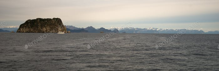 Resurrection Bay Wrangell Mountains Cruise Ship Ferry Alaska