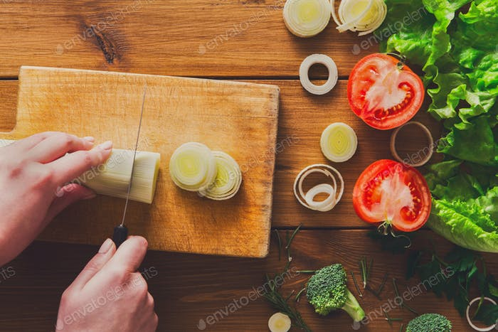 Cooking healthy food background