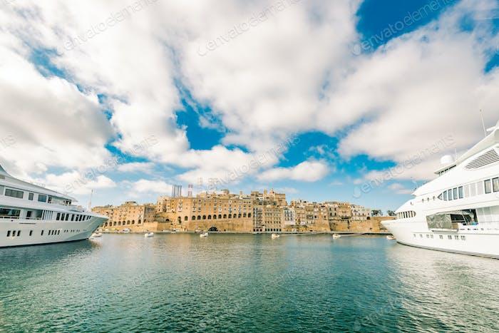 Luxury speedboat yacht in Malta marina