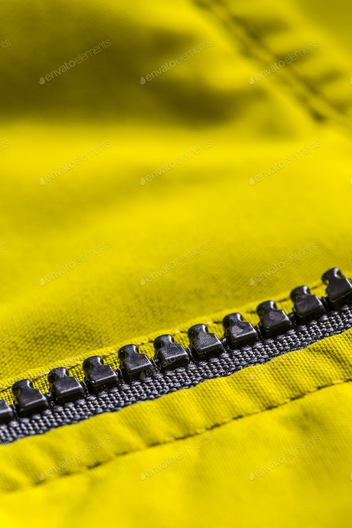 Zipper on the jacket
