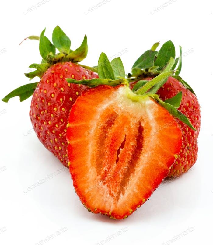 Beautiful strawberries isolated