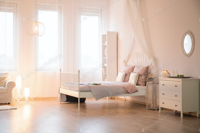 Apartment with bed and window