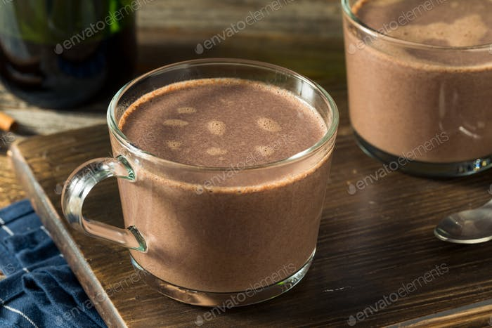 Warm Spiked Red Wine Hot Chocolate
