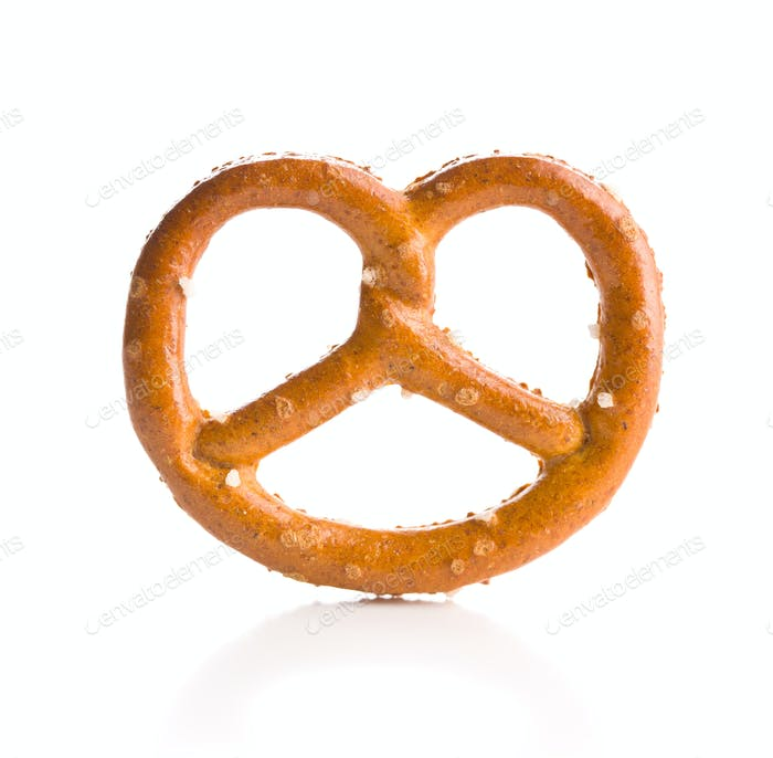Salted mini pretzels snack.
