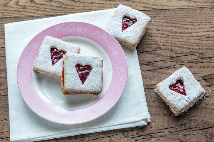 Pecan Cookies with Cherry Filling