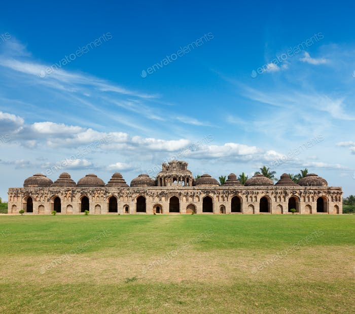 Ancient ruins of Elephant Stables