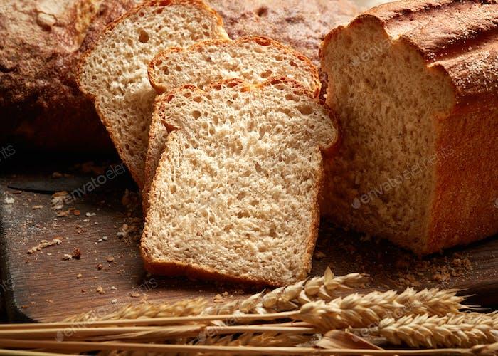 Heap of sliced bread