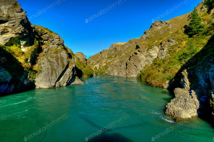 The Kawarau River near Queenstown, New Zealand