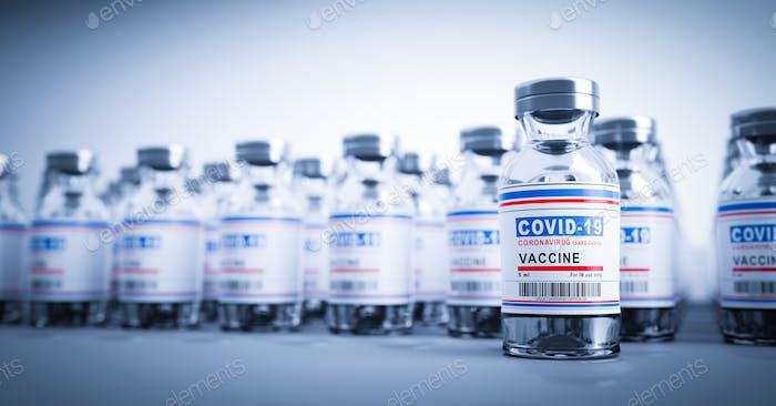 Coronavirus Covid-19 vaccine. Covid19 vaccination production and supply
