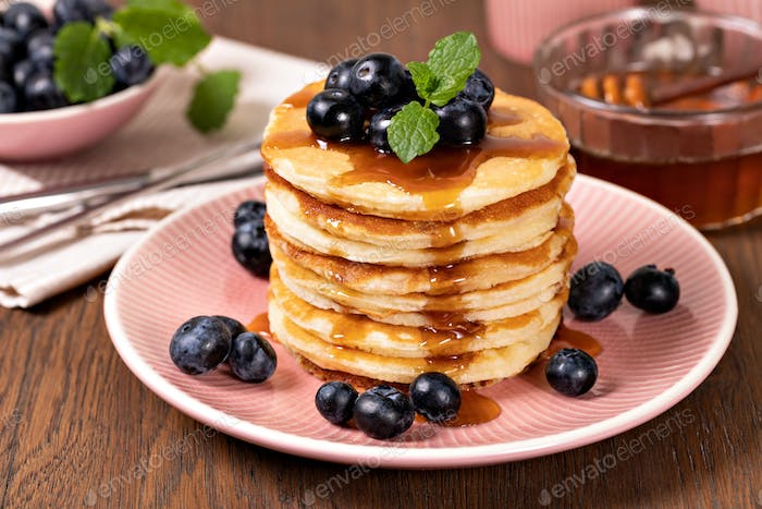 Pancakes with fresh berry