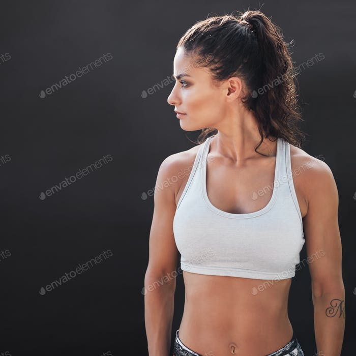 Fitness young woman in sportswear