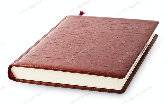 Diary cover with brown leather