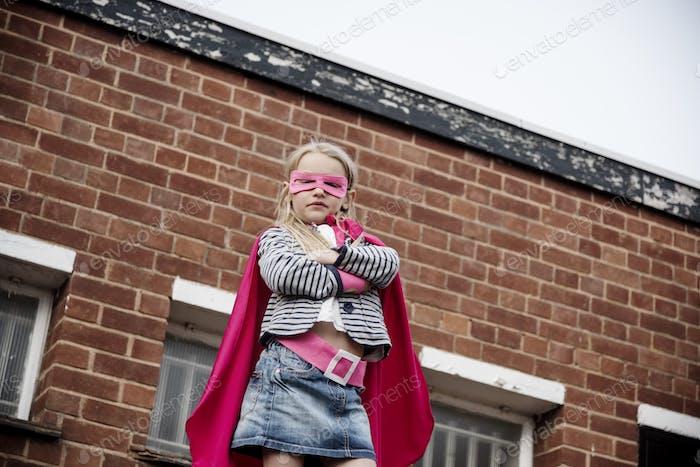Superhero Baby Girl Brave Adorable Concept