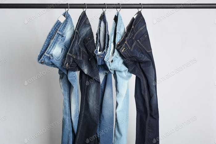 Hanged Blue Jeans