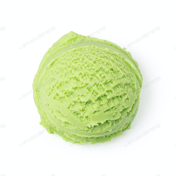 Ice cream ball isolated