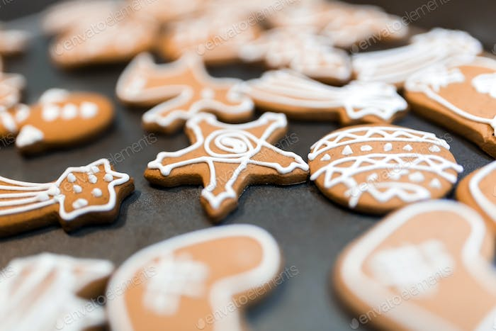 Decorated gingerbread for christmas eve