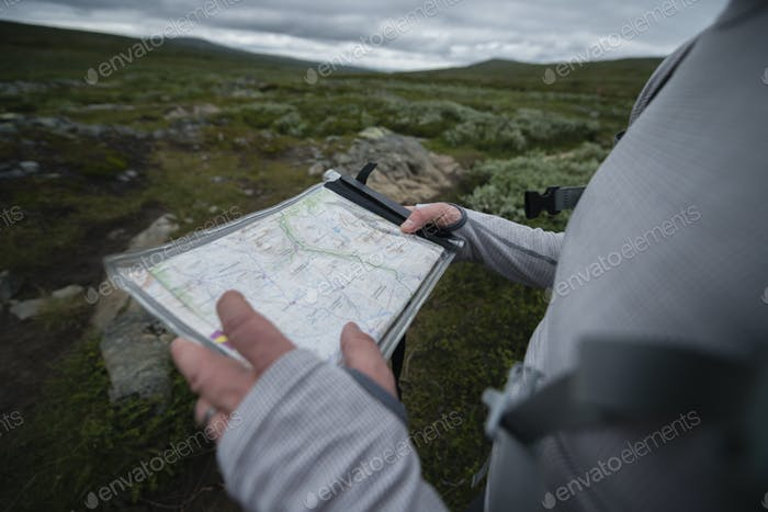 Man holding map