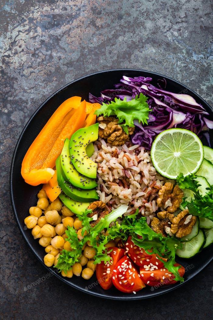 Buddha bowl dish